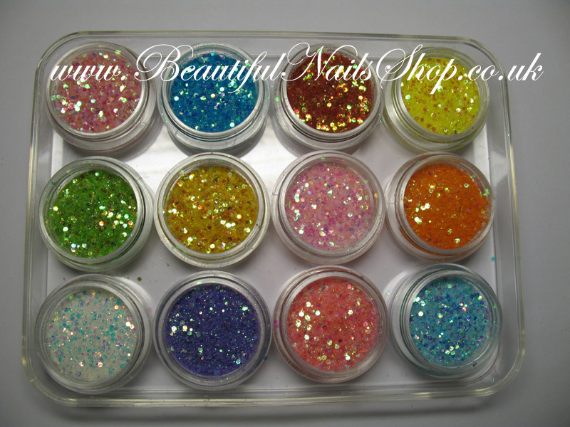 12 super sparkle glitter dust mixed with mini holograms nail art 12 super sparkle glitter dust mixed with mini holograms nail art set 2 prinsesfo Images