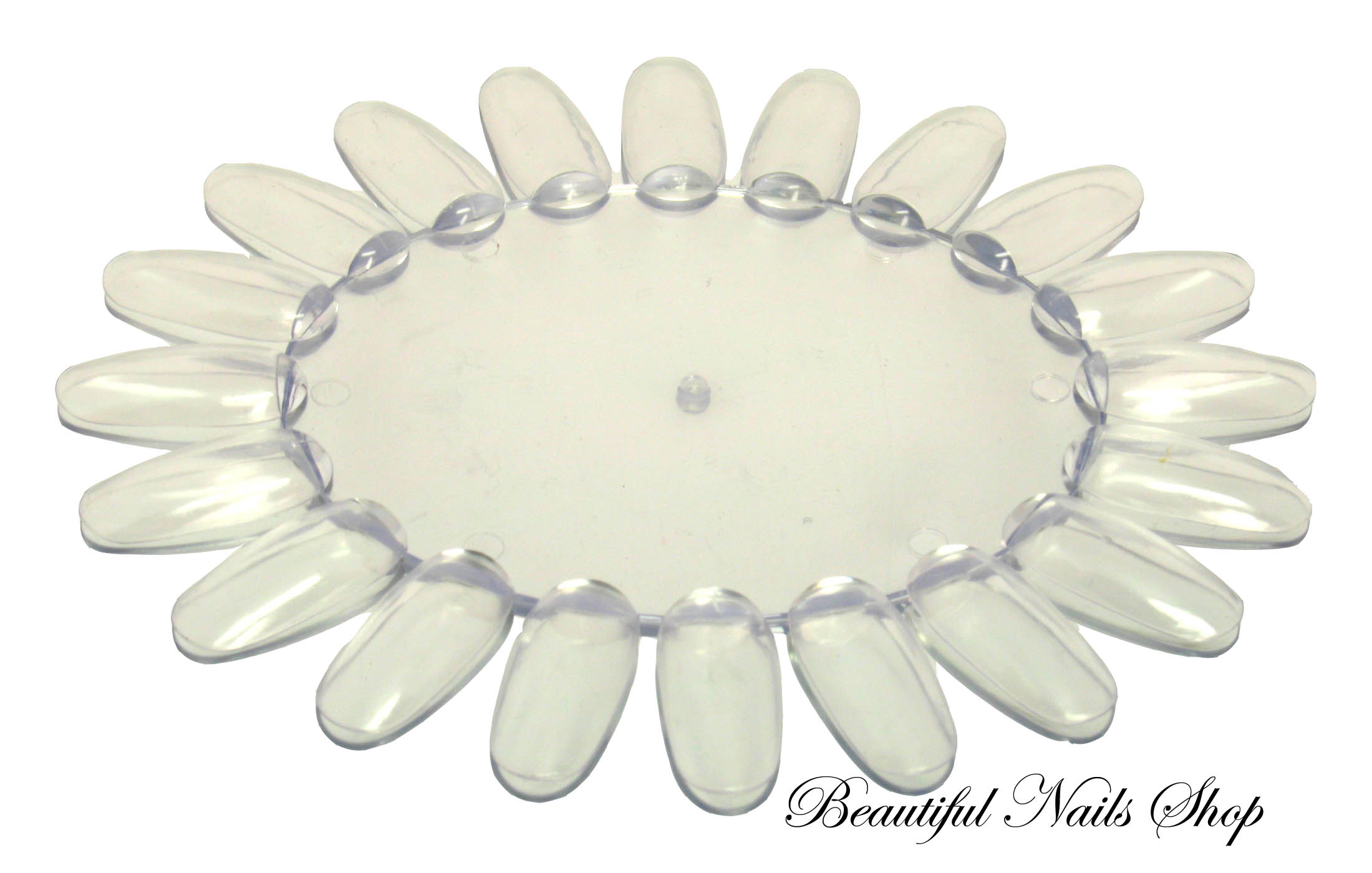 Nail art oval colour display wheel clear prinsesfo Image collections